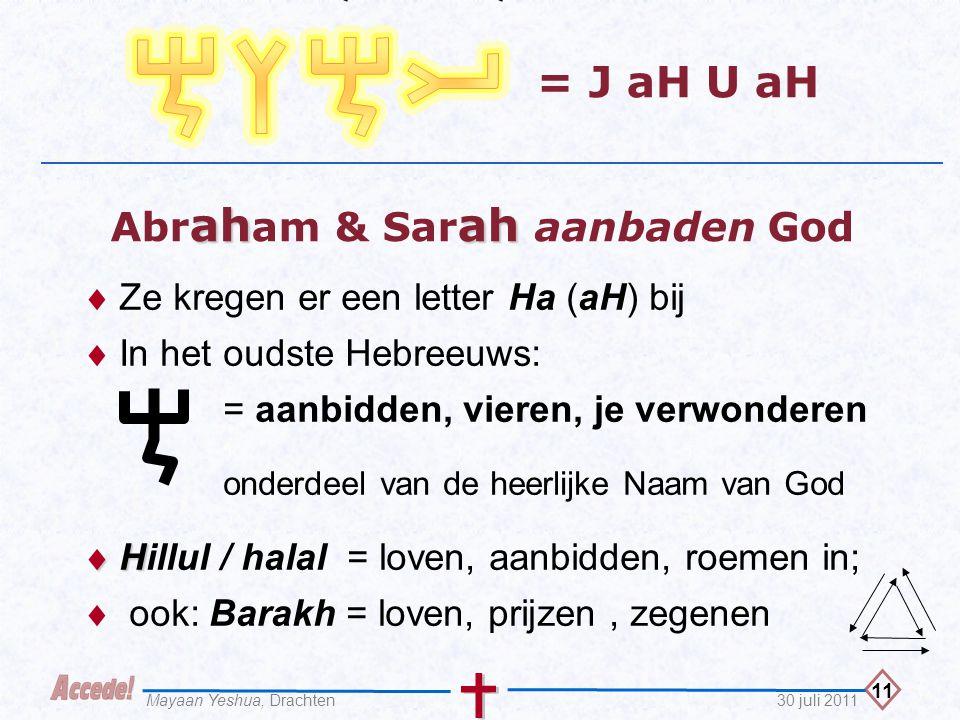 Abraham & Sarah aanbaden God