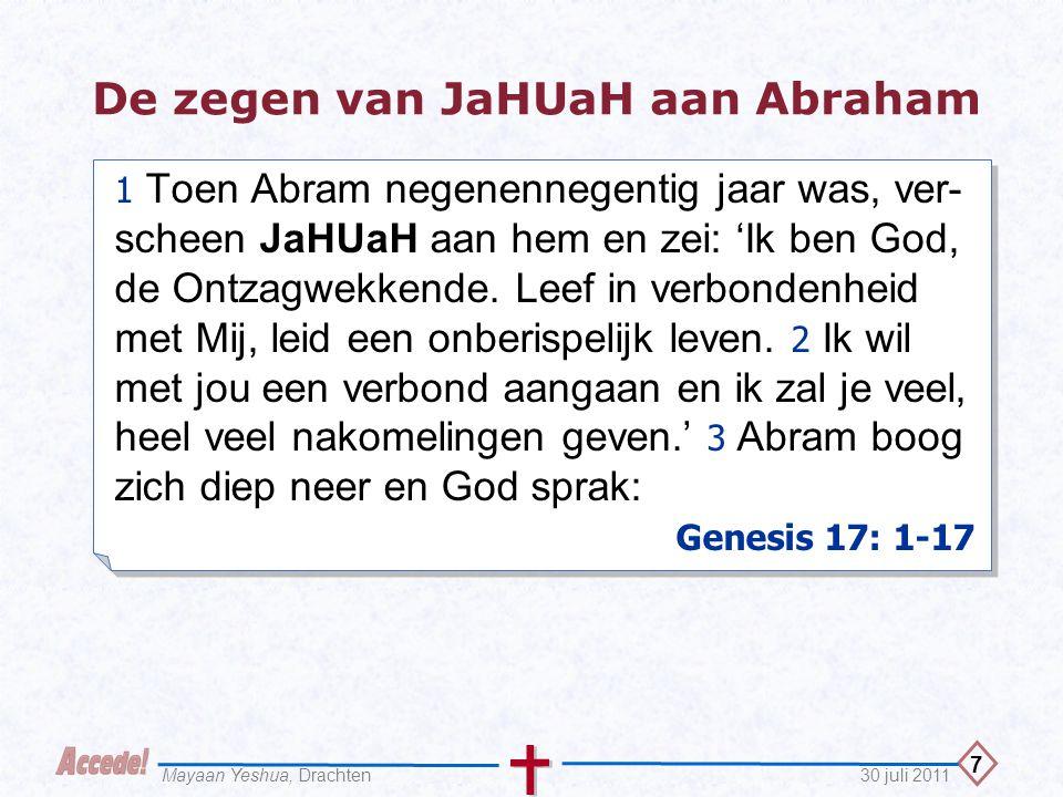 De zegen van JaHUaH aan Abraham