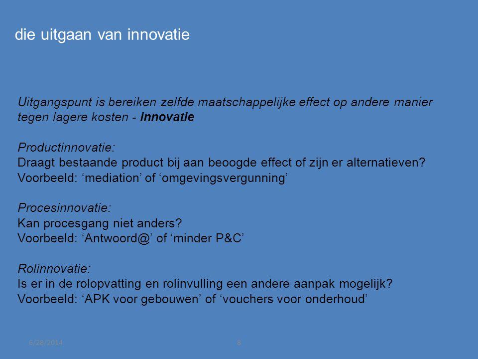 die uitgaan van innovatie