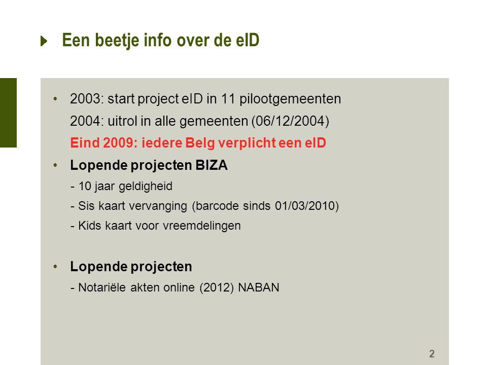 Een beetje info over de eID