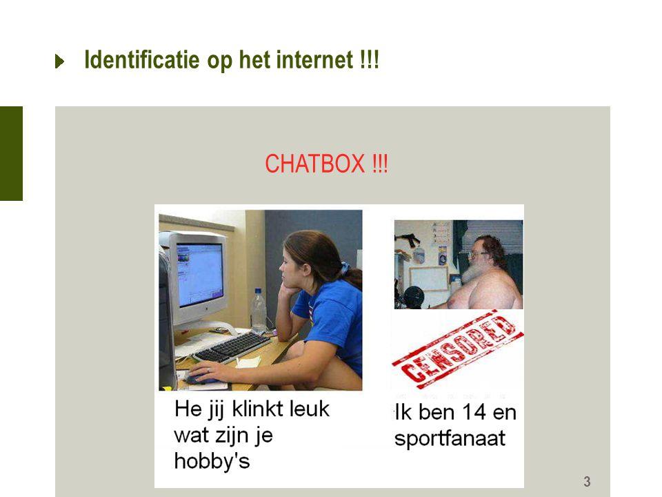Identificatie op het internet !!!