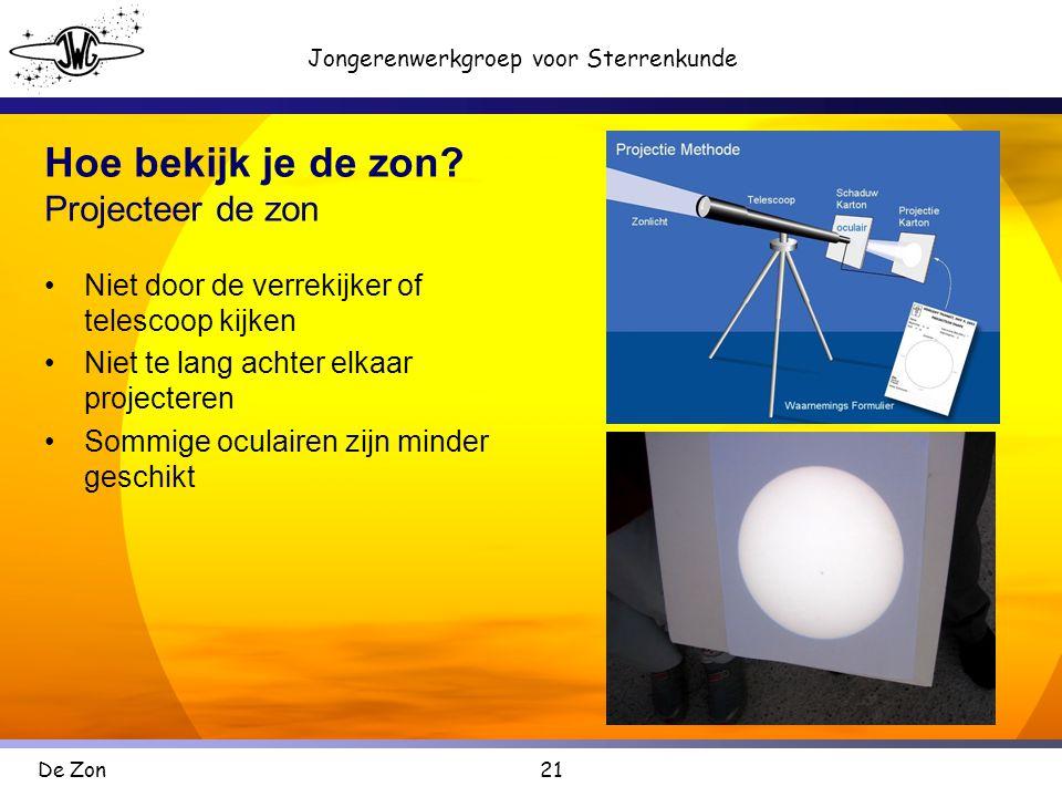 Hoe bekijk je de zon Projecteer de zon