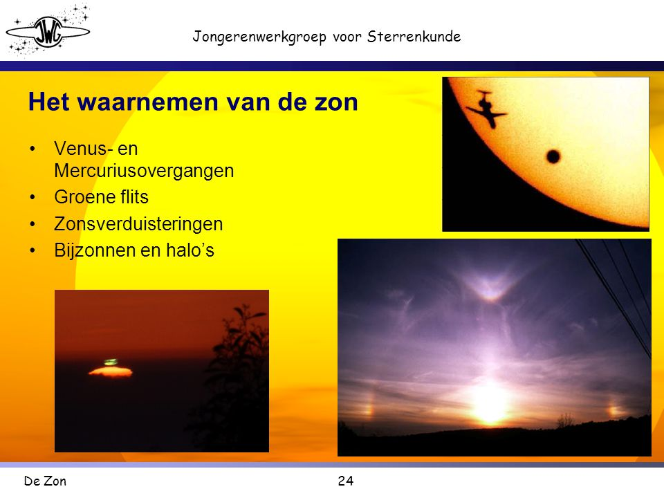Het waarnemen van de zon