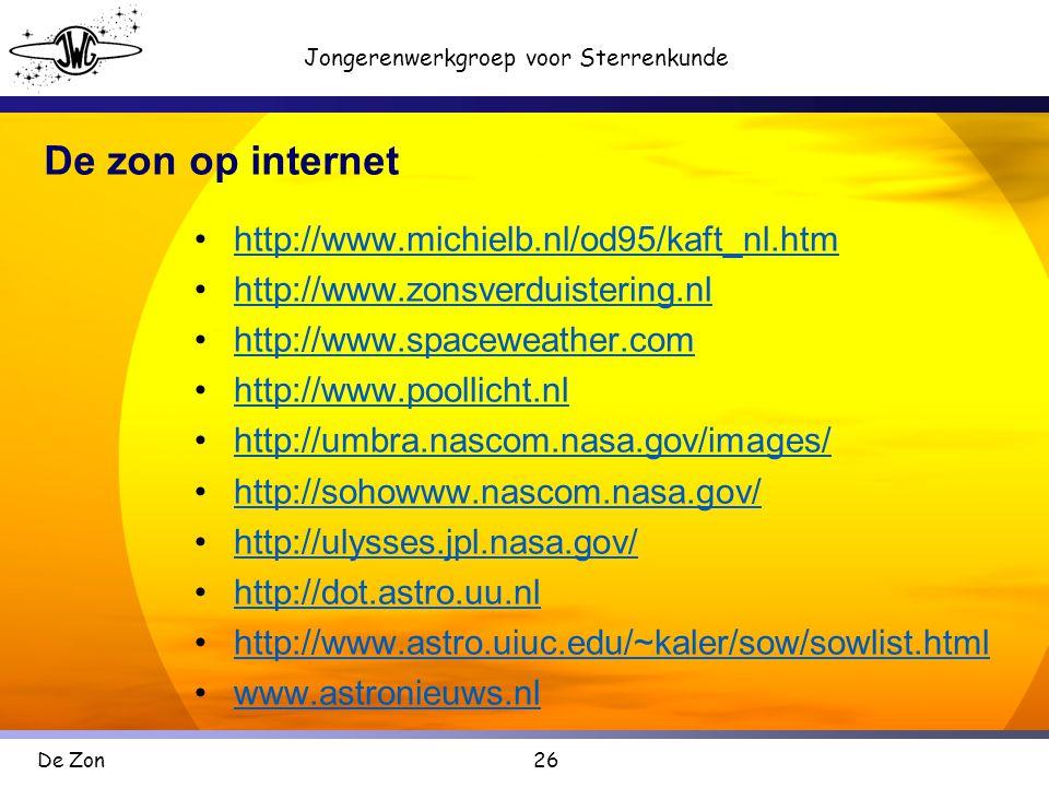 De zon op internet http://www.michielb.nl/od95/kaft_nl.htm