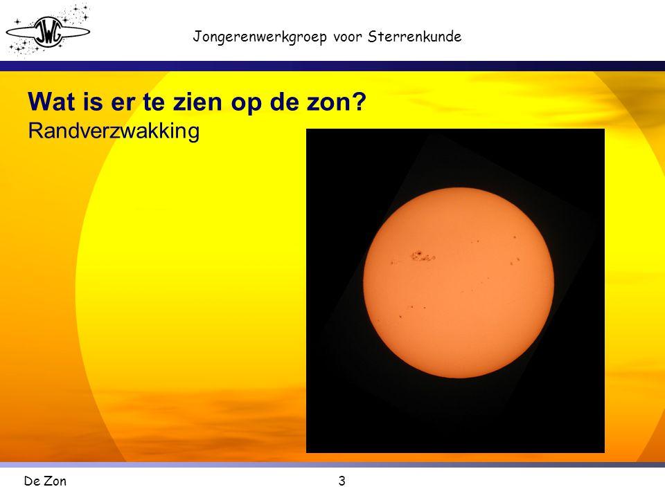 Wat is er te zien op de zon Randverzwakking