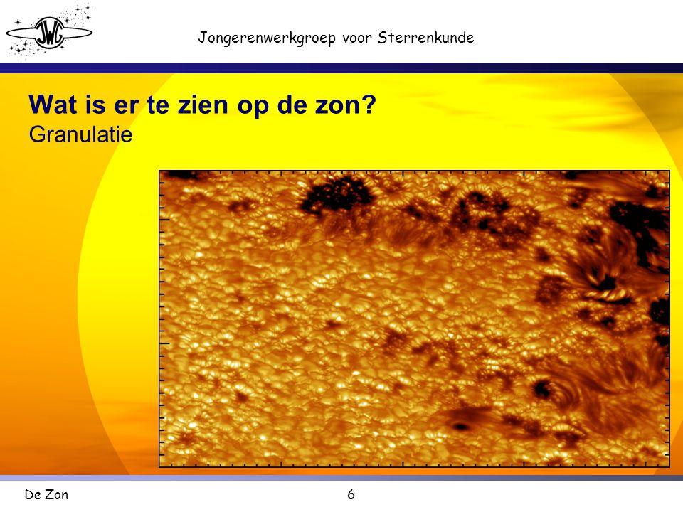 Wat is er te zien op de zon Granulatie