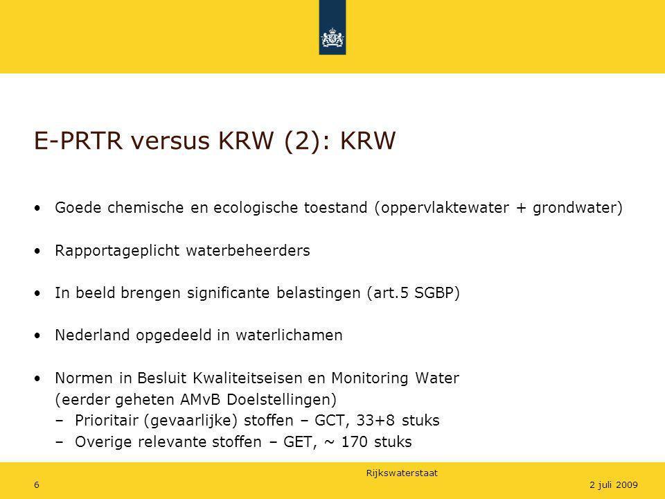 E-PRTR versus KRW (2): KRW
