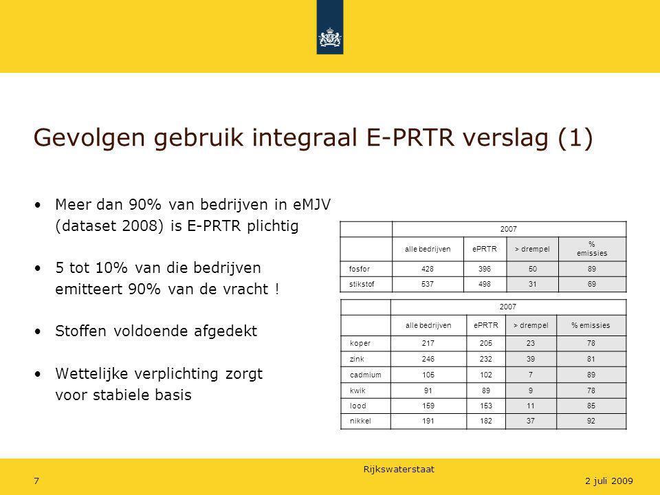 Gevolgen gebruik integraal E-PRTR verslag (1)