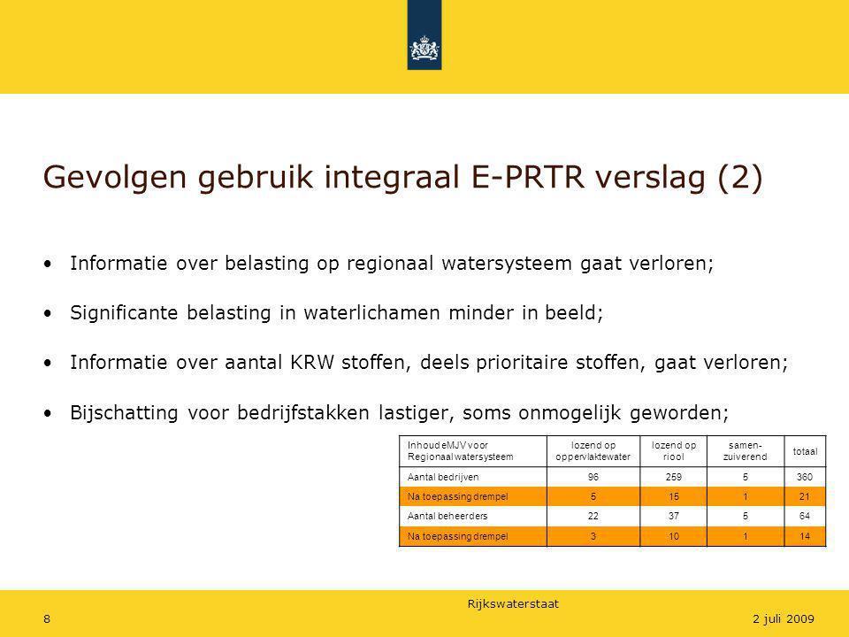 Gevolgen gebruik integraal E-PRTR verslag (2)