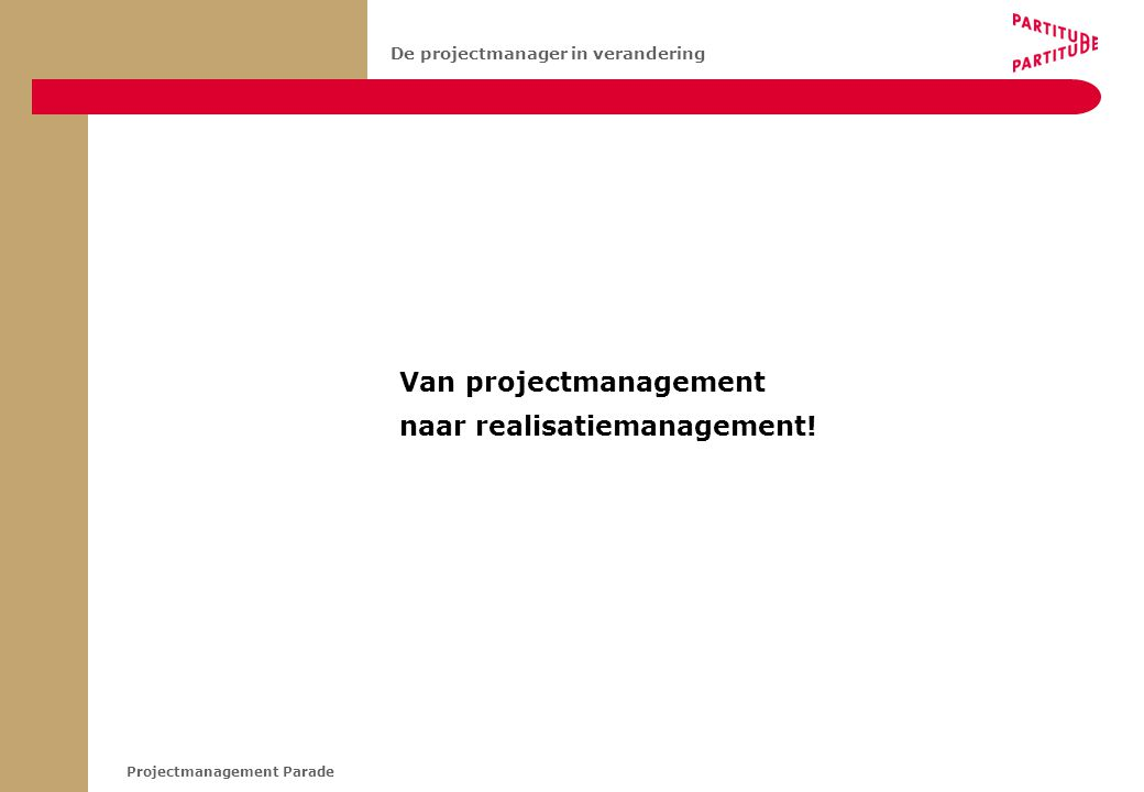 Van projectmanagement
