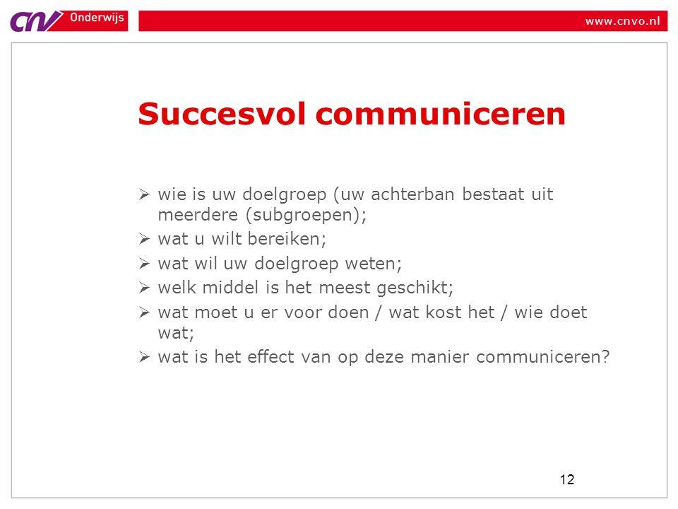 Succesvol communiceren