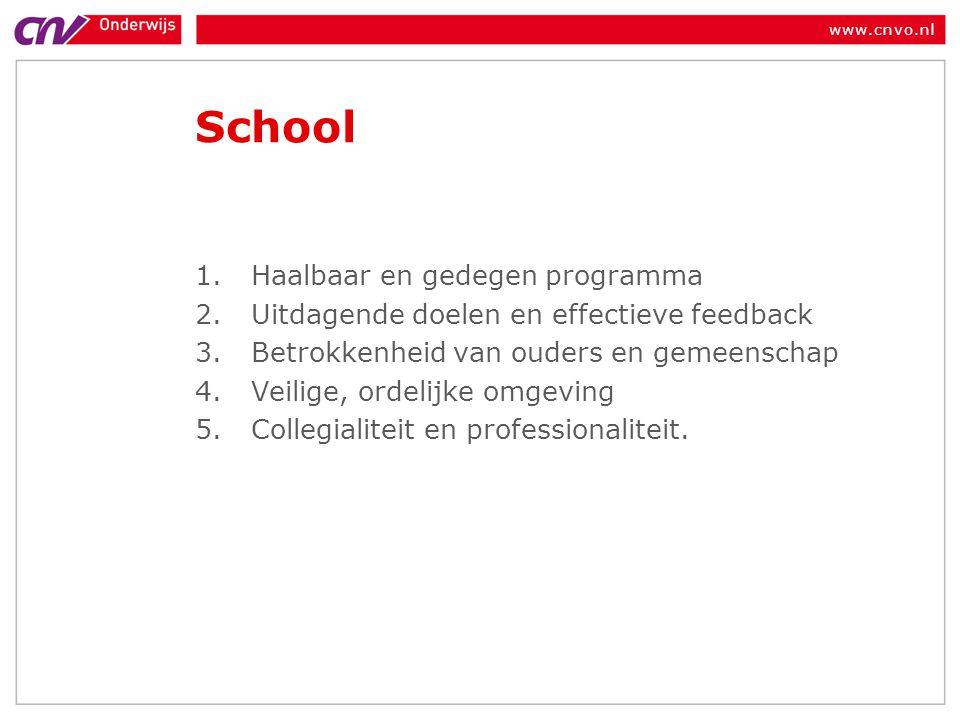 School Haalbaar en gedegen programma