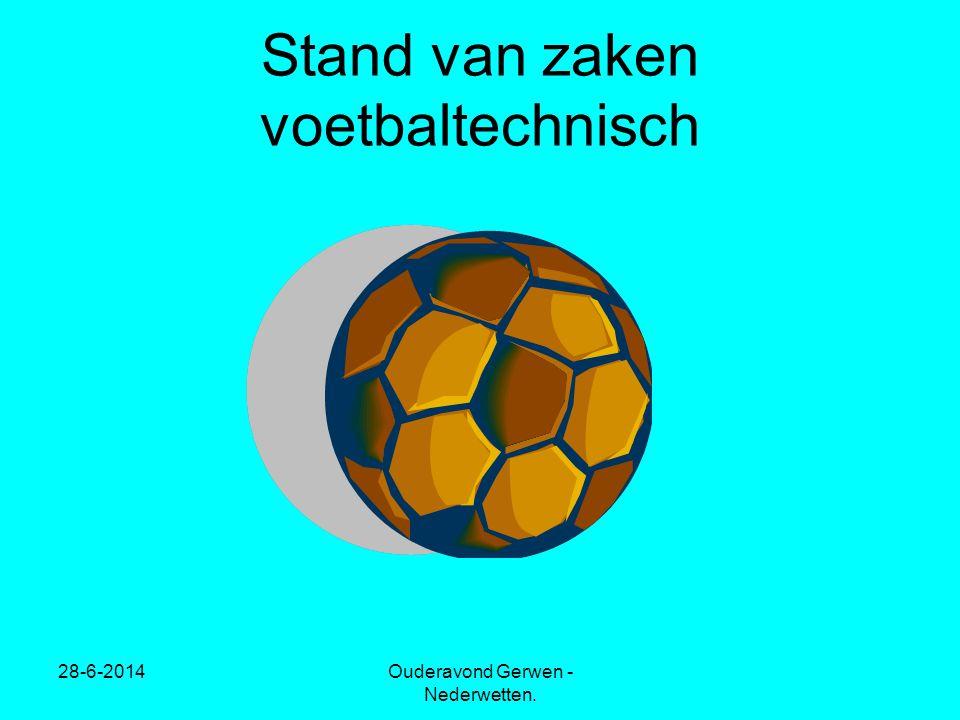 Stand van zaken voetbaltechnisch