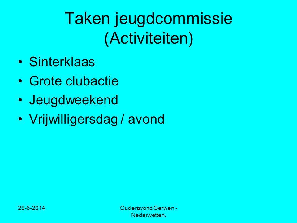 Taken jeugdcommissie (Activiteiten)