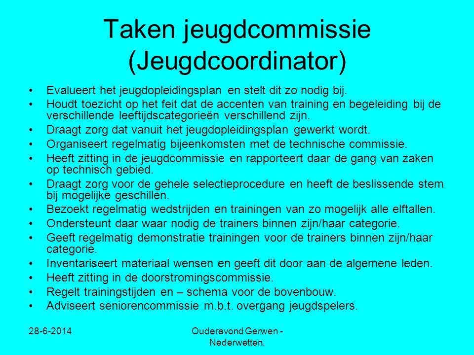 Taken jeugdcommissie (Jeugdcoordinator)