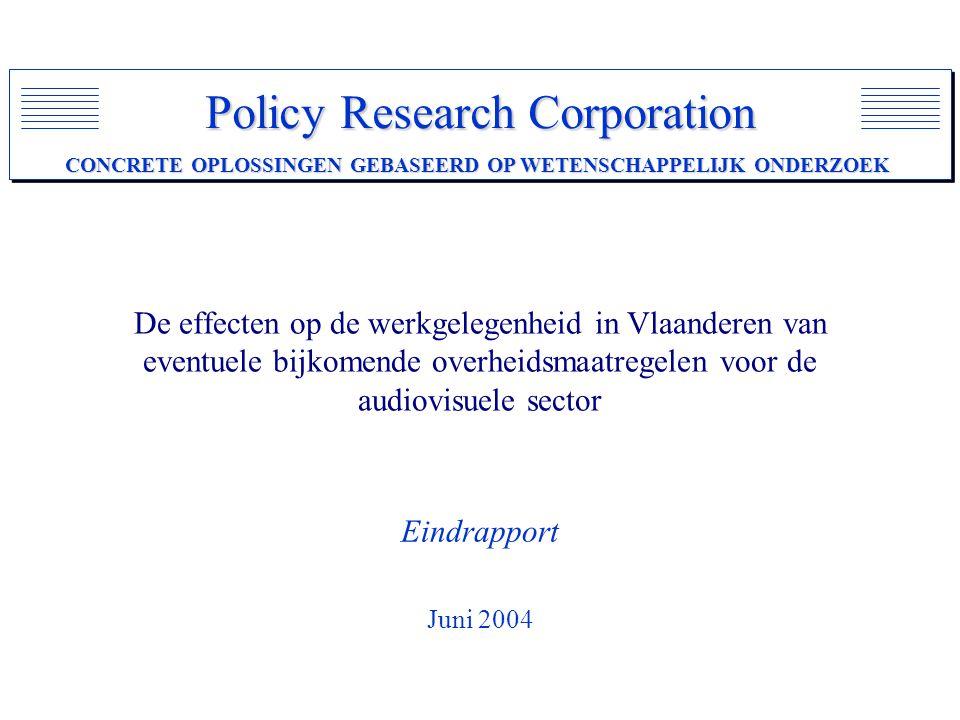 De effecten op de werkgelegenheid in Vlaanderen van eventuele bijkomende overheidsmaatregelen voor de audiovisuele sector