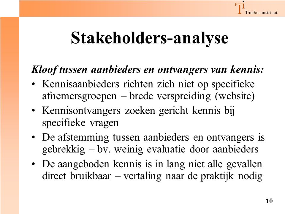 Stakeholders-analyse