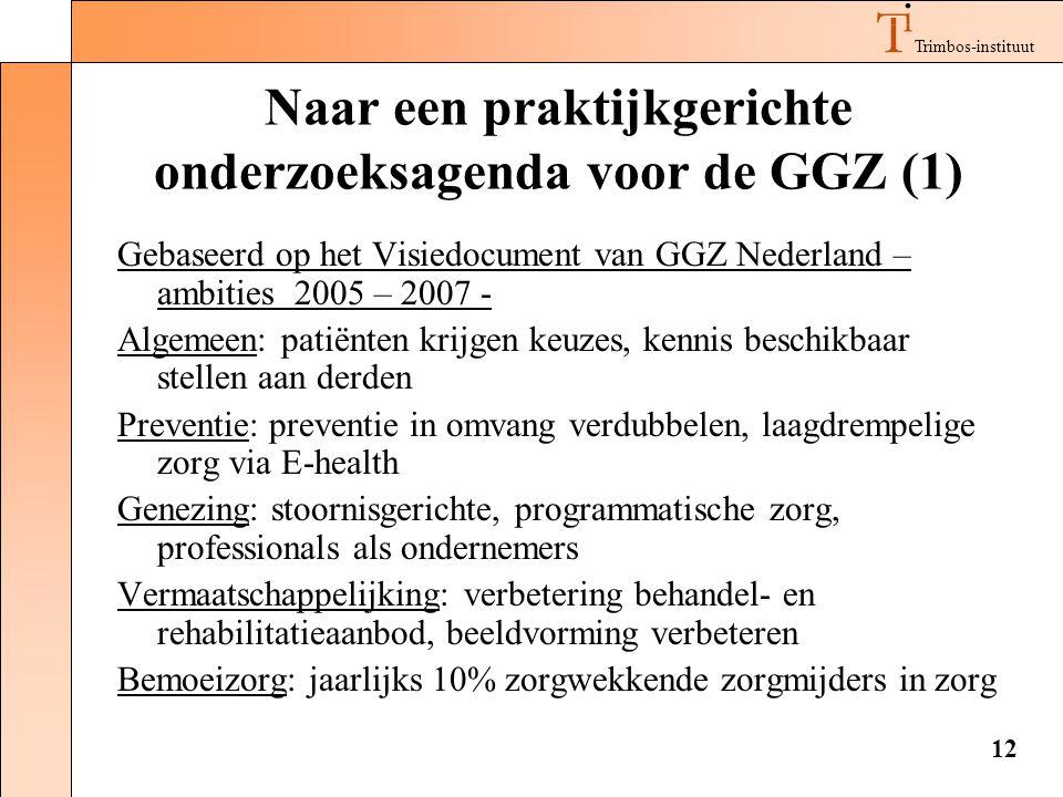 Naar een praktijkgerichte onderzoeksagenda voor de GGZ (1)