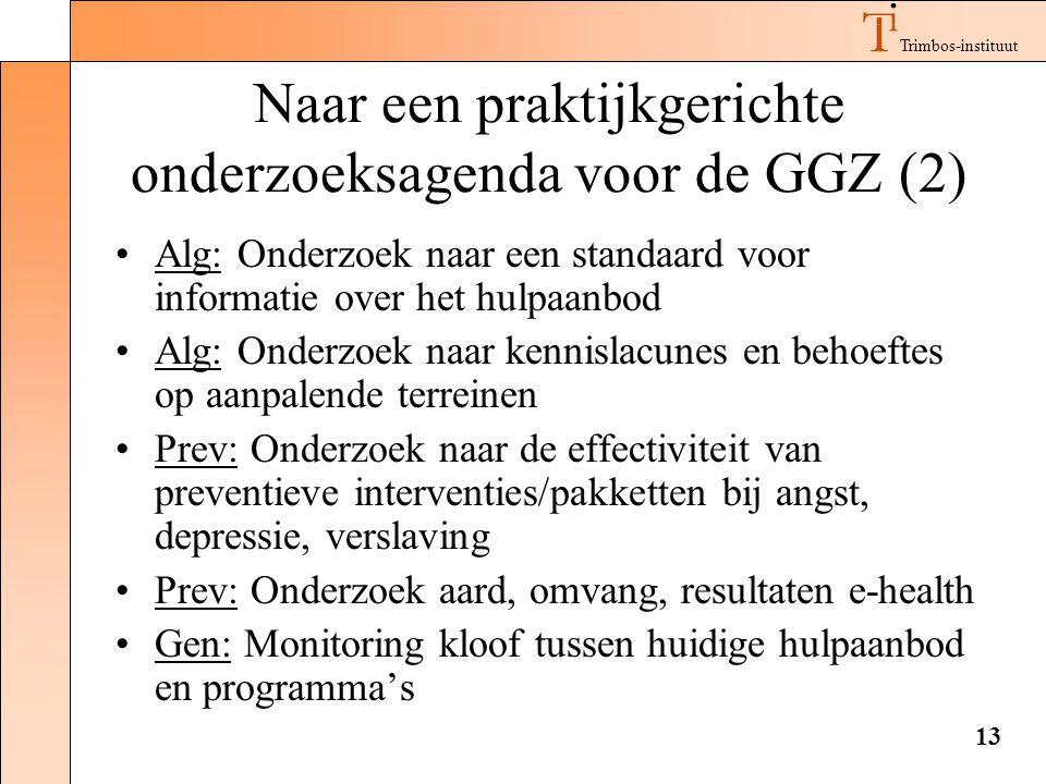 Naar een praktijkgerichte onderzoeksagenda voor de GGZ (2)