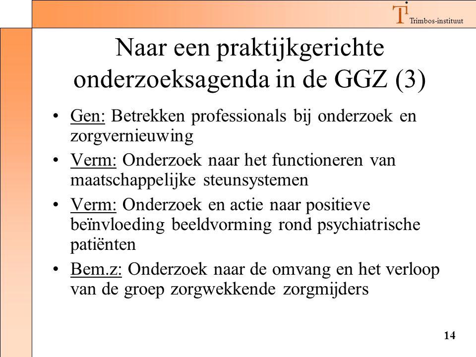 Naar een praktijkgerichte onderzoeksagenda in de GGZ (3)