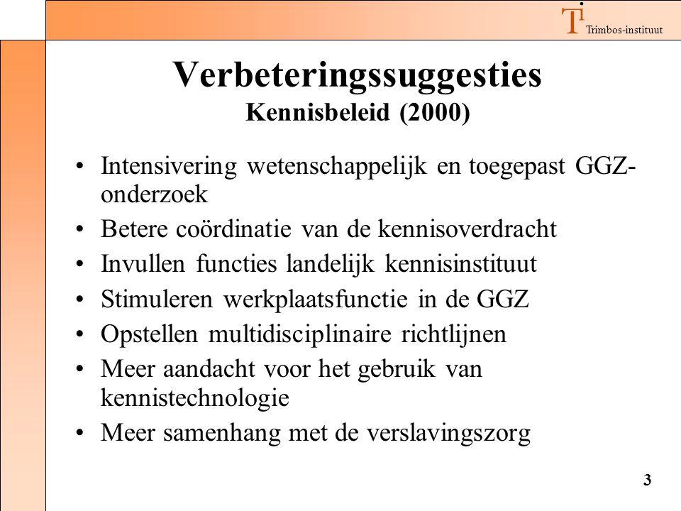 Verbeteringssuggesties Kennisbeleid (2000)