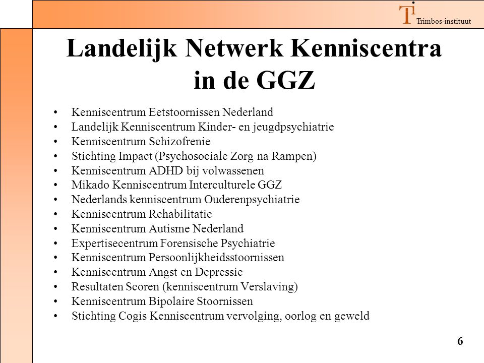 Landelijk Netwerk Kenniscentra in de GGZ