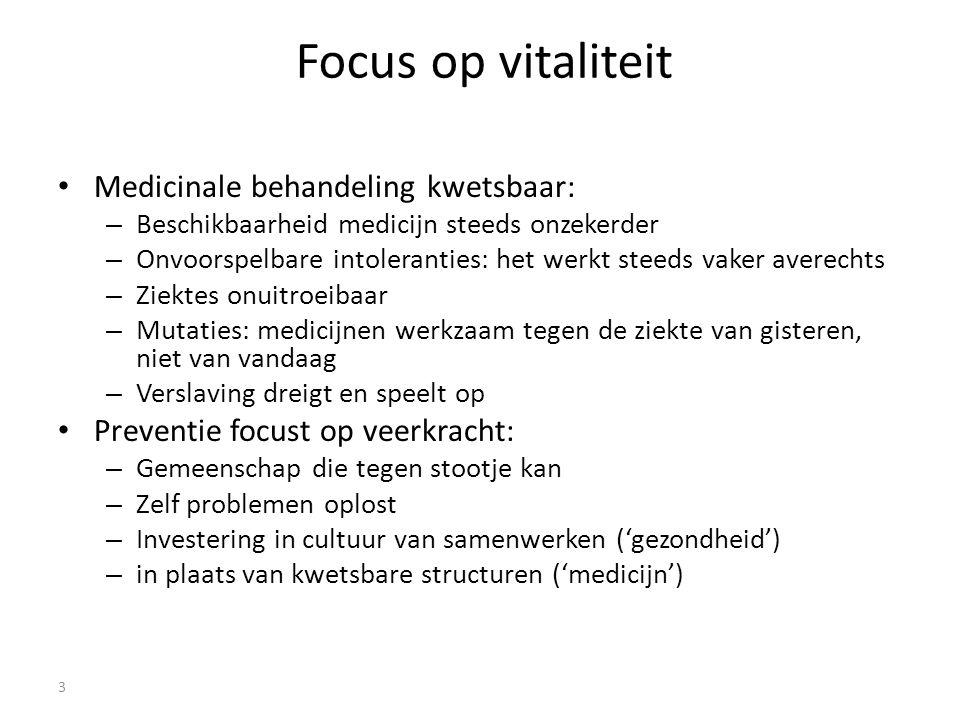 Focus op vitaliteit Medicinale behandeling kwetsbaar: