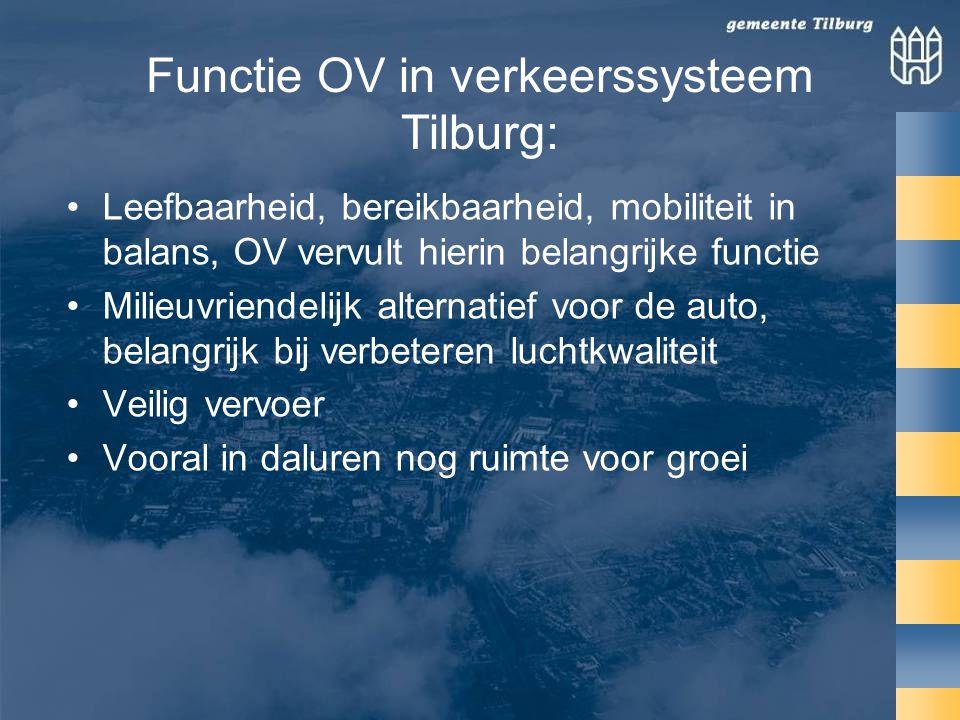 Functie OV in verkeerssysteem Tilburg: