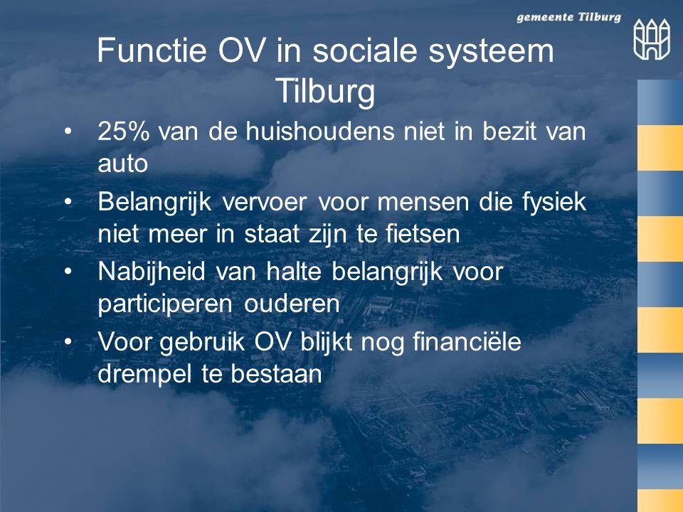 Functie OV in sociale systeem Tilburg