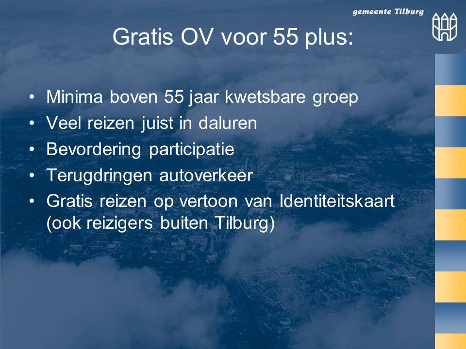 Gratis OV voor 55 plus: Minima boven 55 jaar kwetsbare groep