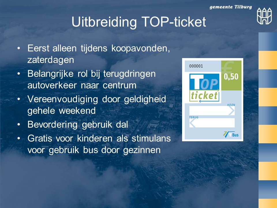 Uitbreiding TOP-ticket