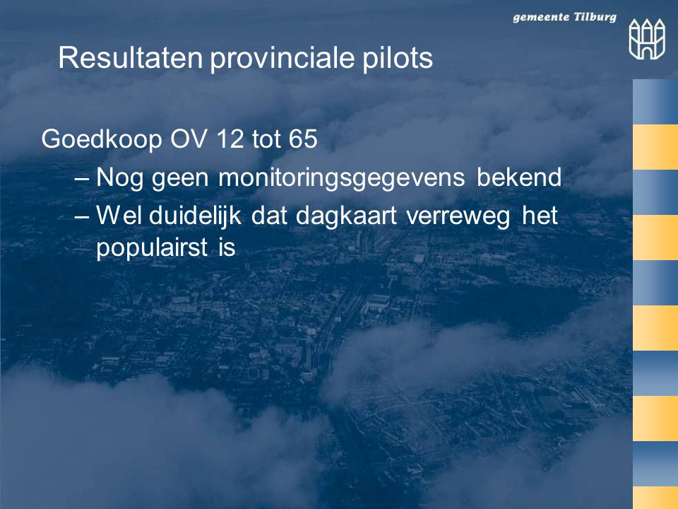 Resultaten provinciale pilots