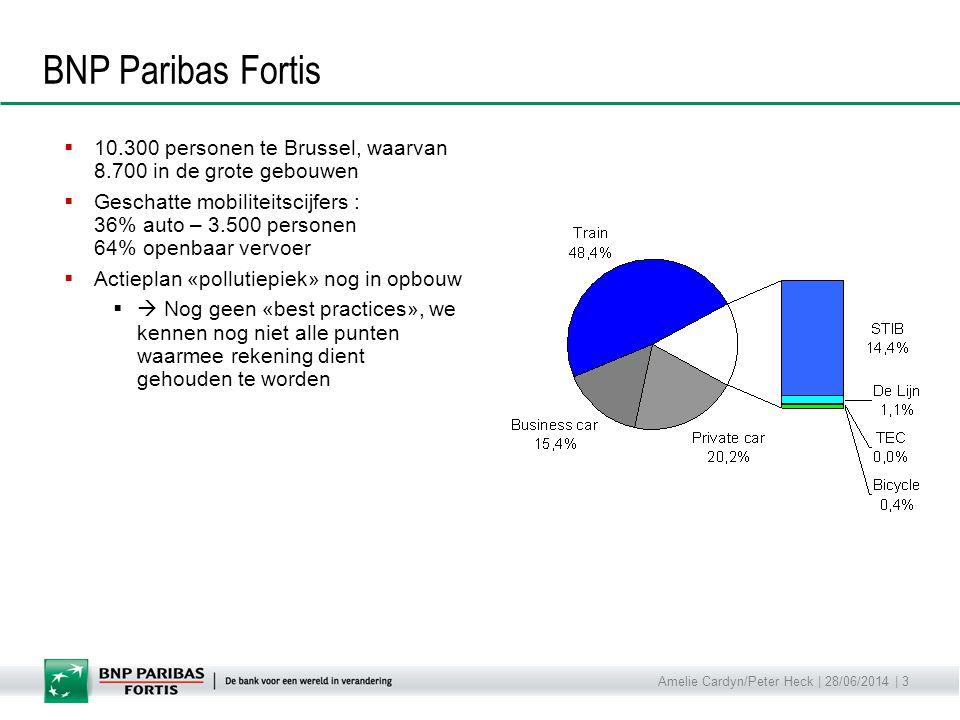 BNP Paribas Fortis 10.300 personen te Brussel, waarvan 8.700 in de grote gebouwen.