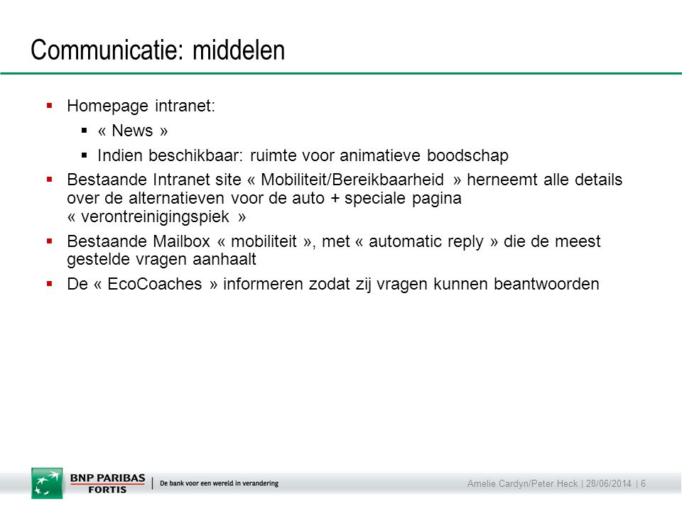 Communicatie: middelen