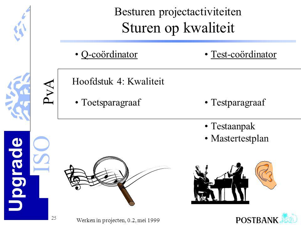 Besturen projectactiviteiten Sturen op kwaliteit