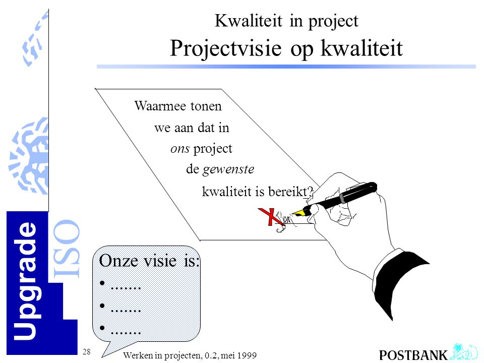 Kwaliteit in project Projectvisie op kwaliteit