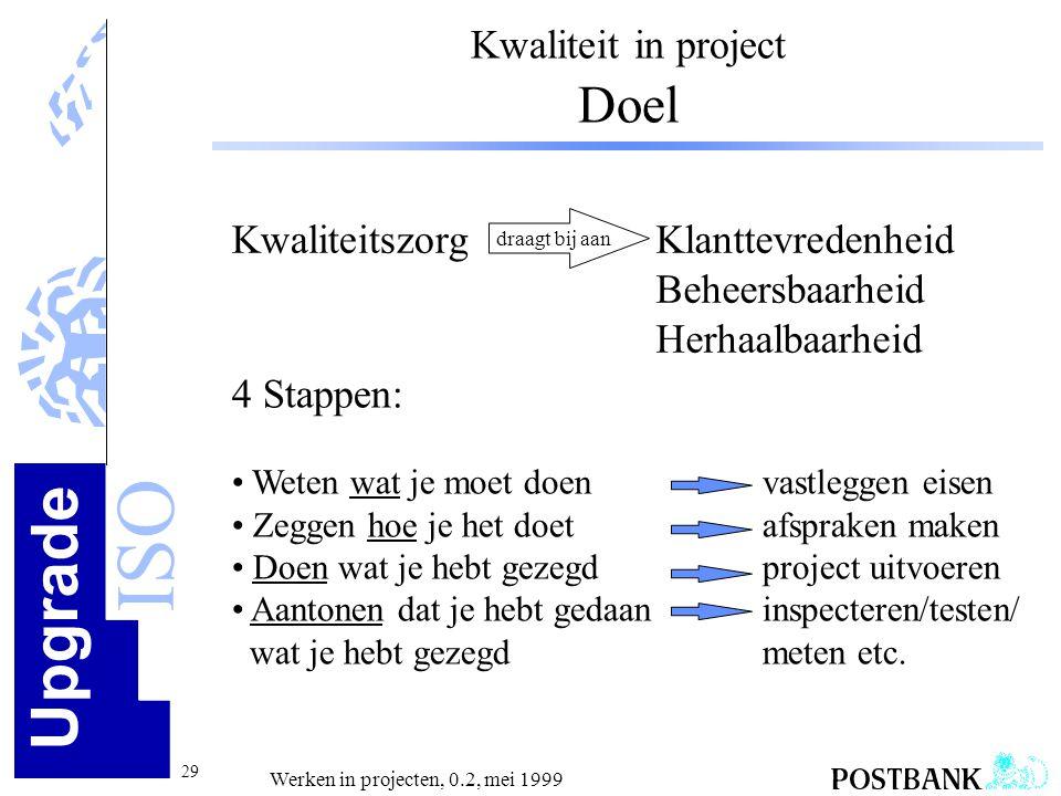 Kwaliteit in project Doel