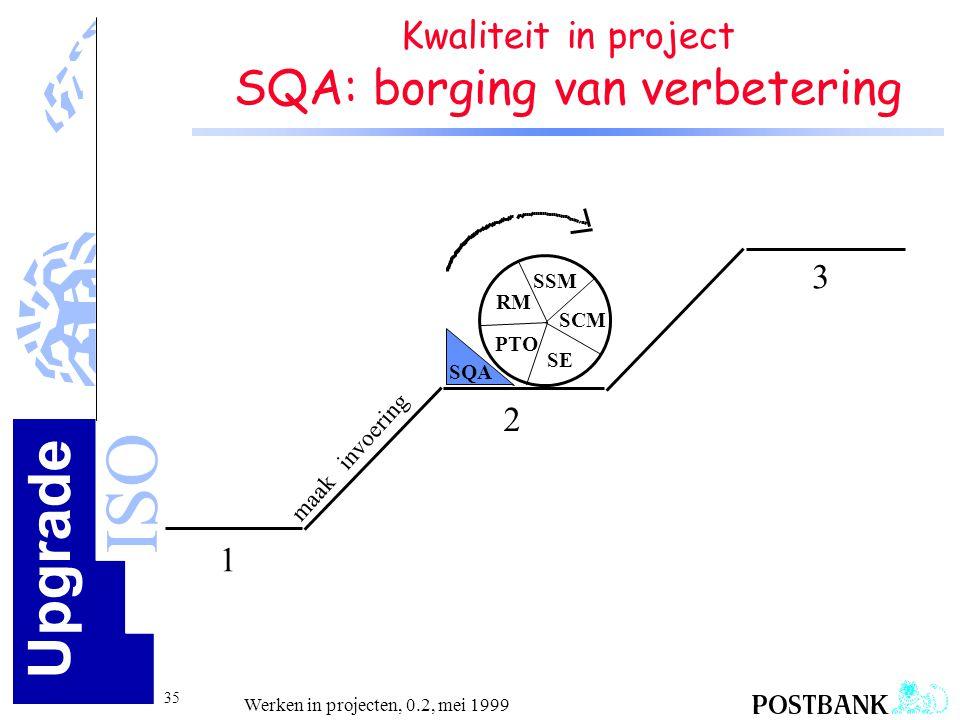 Kwaliteit in project SQA: borging van verbetering