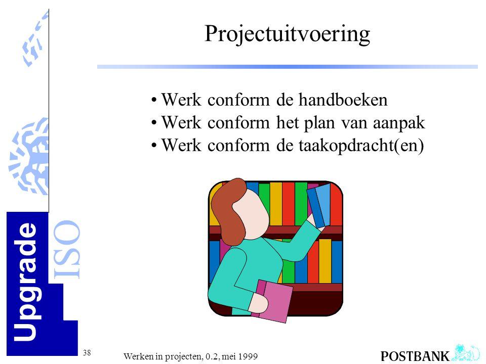 Projectuitvoering Werk conform de handboeken