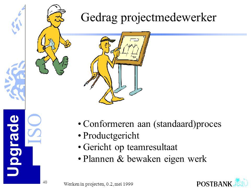 Gedrag projectmedewerker
