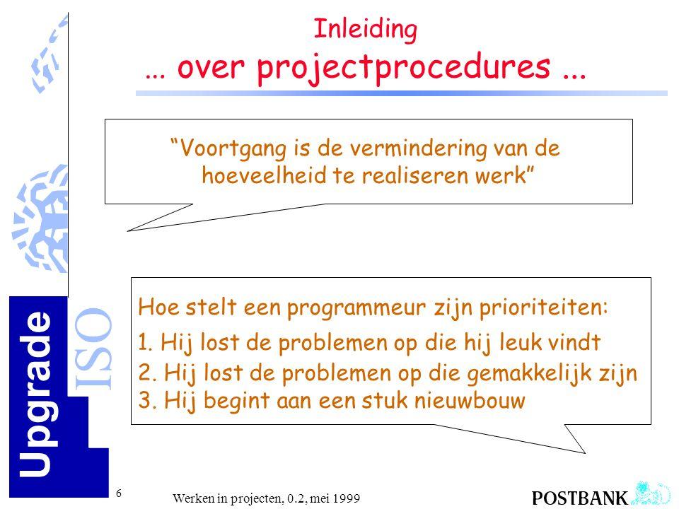 … over projectprocedures ...
