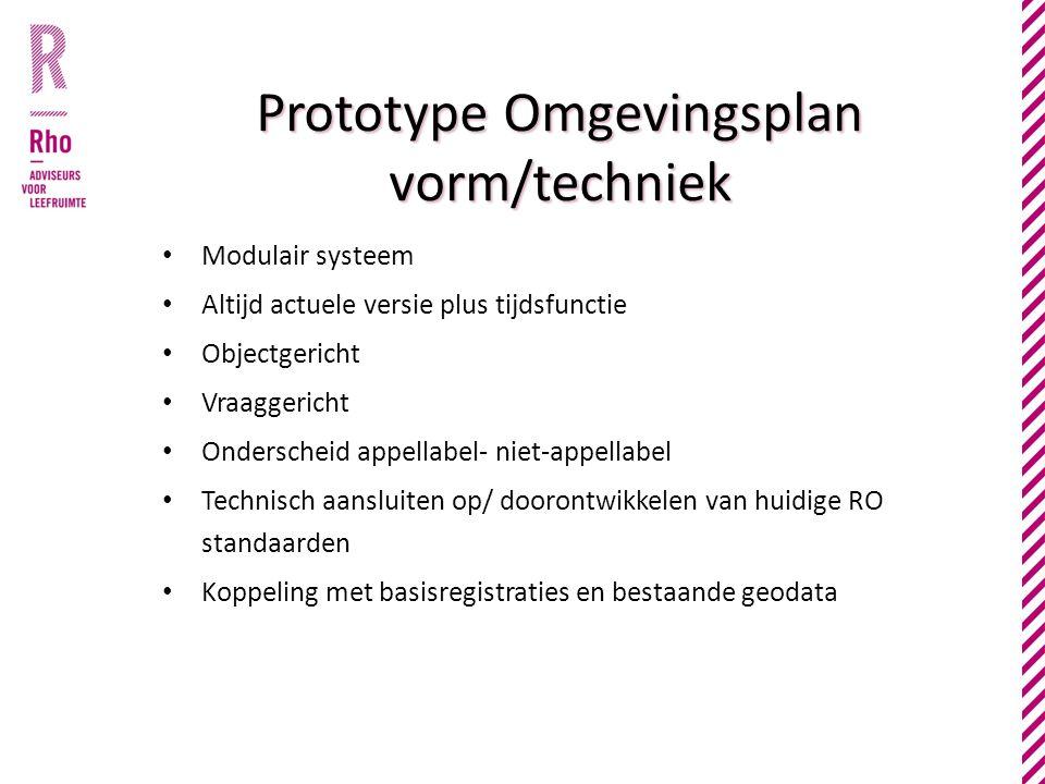 Prototype Omgevingsplan vorm/techniek