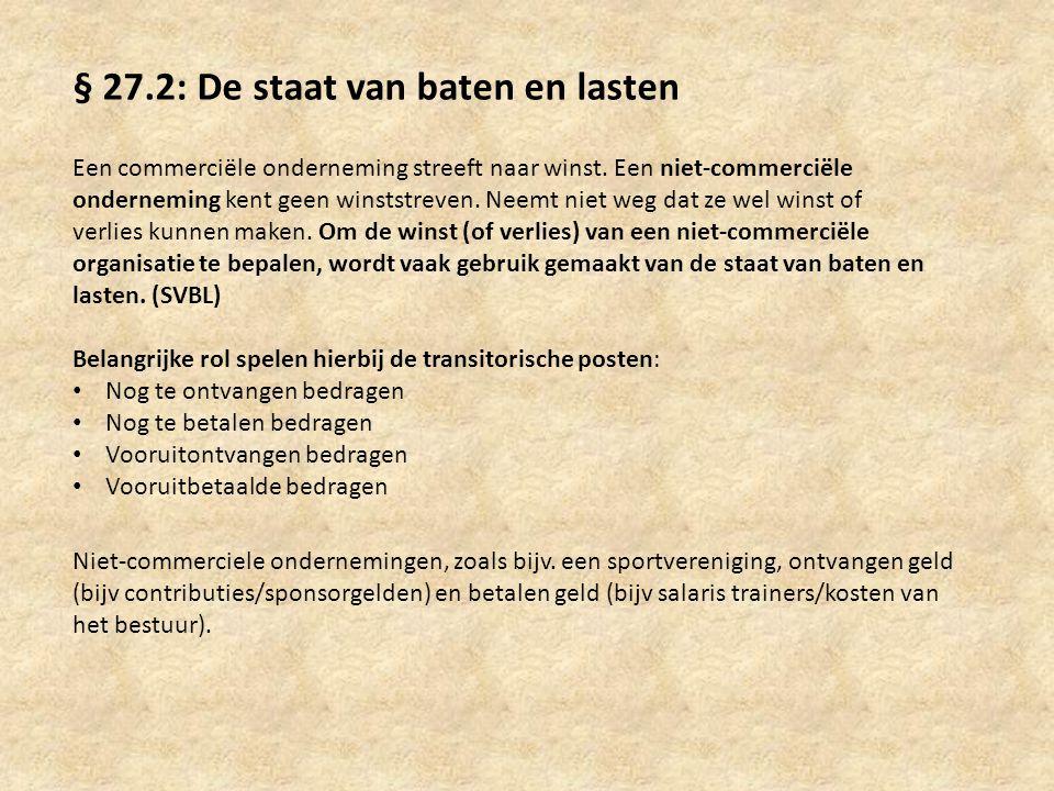 § 27.2: De staat van baten en lasten