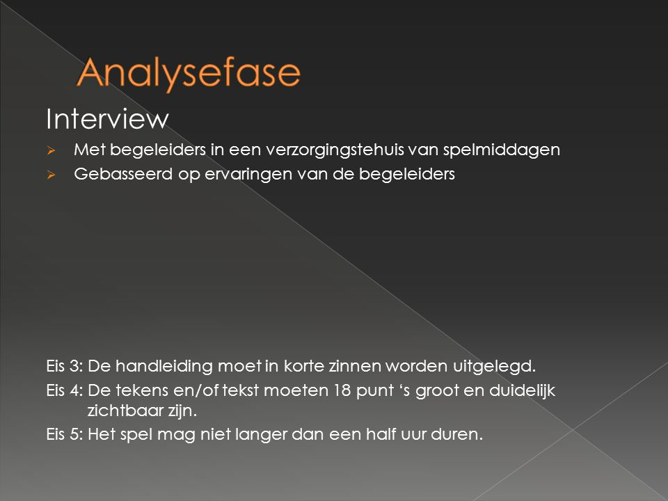 Analysefase Interview