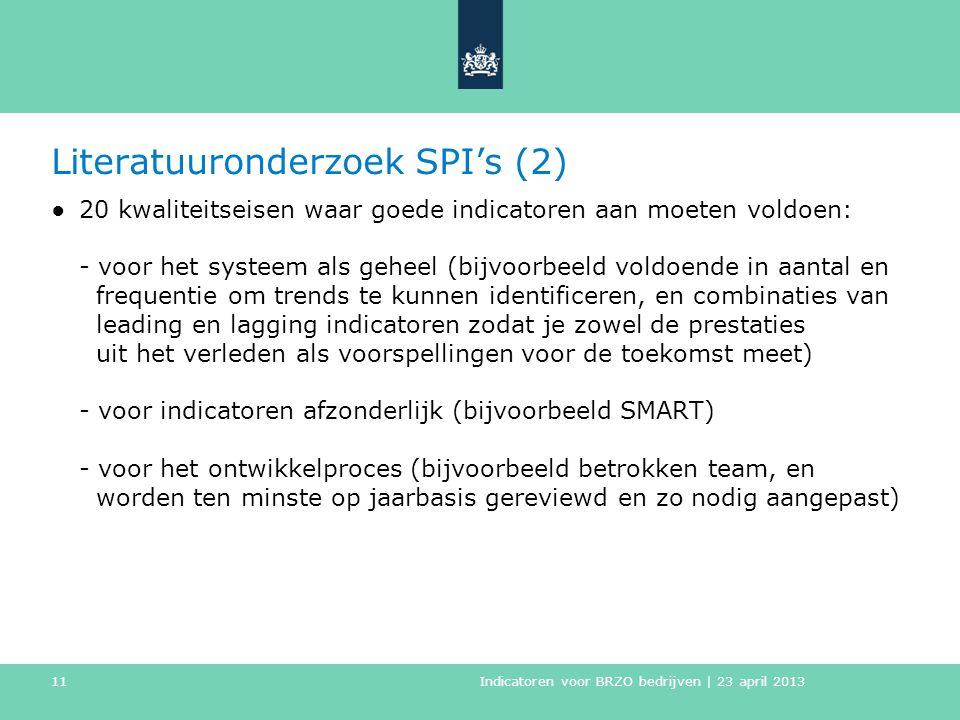 Literatuuronderzoek SPI's (2)