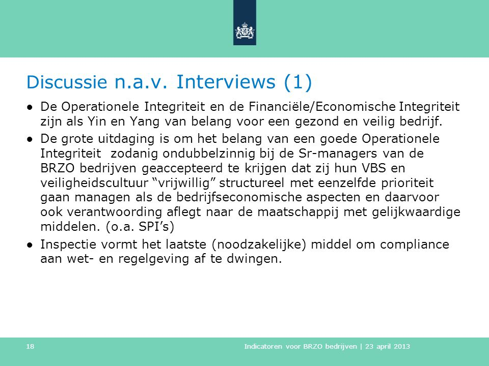 Discussie n.a.v. Interviews (1)
