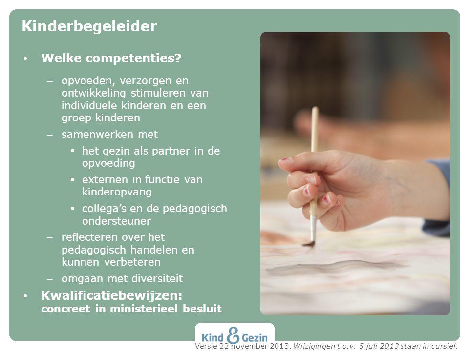 Kinderbegeleider Welke competenties