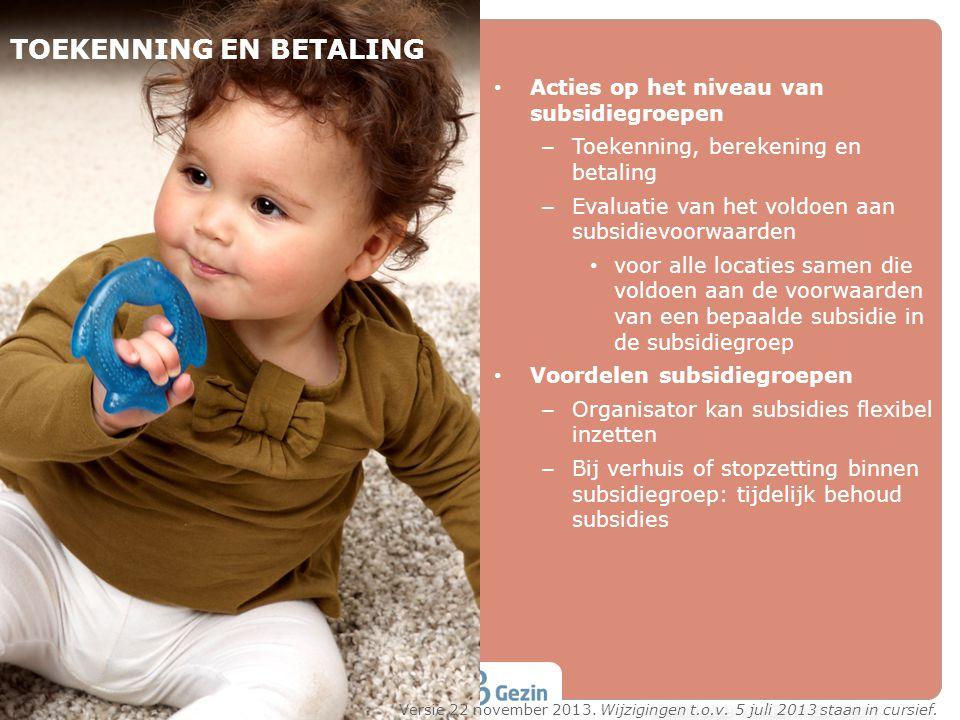 TOEKENNING EN BETALING
