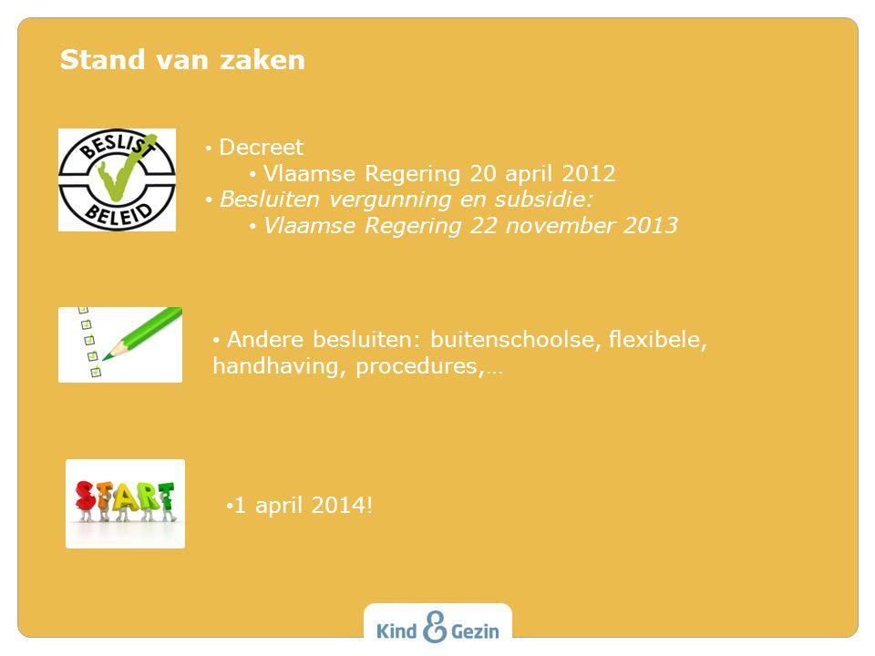 Stand van zaken Vlaamse Regering 20 april 2012