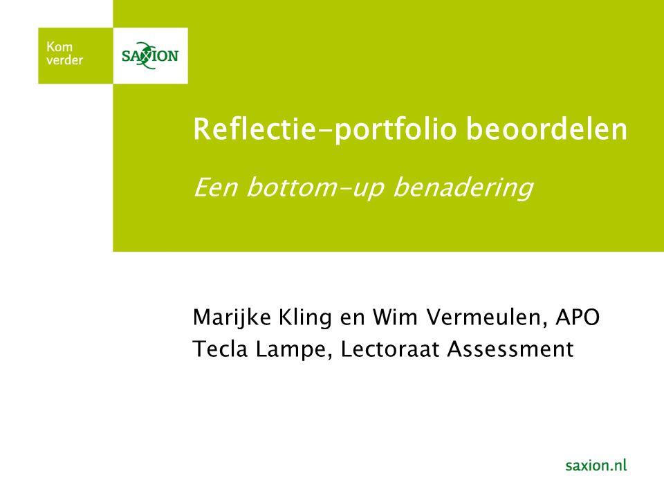 Reflectie-portfolio beoordelen